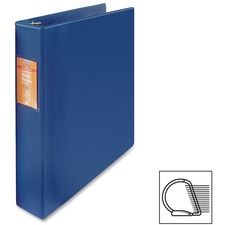 "Wilson Jones Heavy-duty D-ring Binder - 1 1/2"" Binder Capacity - Letter - 8 1/2"" x 11"" Sheet Size - 3 x D-Ring Fastener(s) - Internal Pocket(s) - Chipboard, Polypropylene - Blue - Heavy Duty, Spine Label, Sheet Lifter, PVC-free, Non-stick - 1 Each"