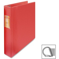 "Wilson Jones Heavy-duty D-ring Binder - 1 1/2"" Binder Capacity - Letter - 8 1/2"" x 11"" Sheet Size - 3 x D-Ring Fastener(s) - Internal Pocket(s) - Chipboard, Polypropylene - Red - Heavy Duty, Spine Label, Sheet Lifter, PVC-free, Non-stick - 1 Each"
