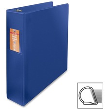 "Wilson Jones Heavy-duty D-ring Binder - 2"" Binder Capacity - Letter - 8 1/2"" x 11"" Sheet Size - 3 x D-Ring Fastener(s) - Internal Pocket(s) - Chipboard, Polypropylene - Blue - Heavy Duty, Spine Label, Sheet Lifter, PVC-free, Non-stick, Durable - 1 Each"