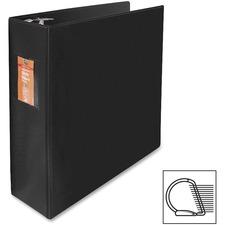 "Wilson Jones Slant-D Ring Binders - 3"" Binder Capacity - Letter - 8 1/2"" x 11"" Sheet Size - 3 x D-Ring Fastener(s) - Internal Pocket(s) - Chipboard, Polypropylene - Black - Heavy Duty, Spine Label, Sheet Lifter, PVC-free, Non-stick, Durable - 1 Each"