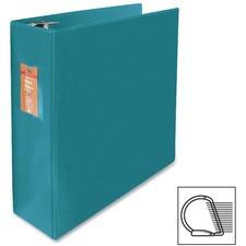 "Wilson Jones Slant-D Ring Binders - 3"" Binder Capacity - Letter - 8 1/2"" x 11"" Sheet Size - 3 x D-Ring Fastener(s) - Internal Pocket(s) - Chipboard, Polypropylene - Green - Heavy Duty, Spine Label, Sheet Lifter, PVC-free, Non-stick, Durable - 1 Each"