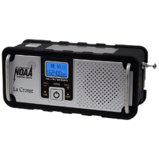 La Crosse Technology AM/FM/WB NOAA Weather Radio with Hand Crank and LED Flashlight