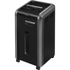 "Fellowes Microshred 225Mi 100% Jam Proof Micro-Cut Shredder - Continuous Shredder - Micro Cut - 16 Per Pass - for shredding Staples, Credit Card, CD, DVD, Paper Clip, Junk Mail, Paper - 0.1"" x 0.5"" Shred Size - P-5 - 4.88 m/min - 9.5"" Throat - 60.57 L Was"