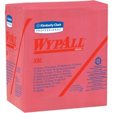 KCC 41029 Kimberly-Clark WypAll X80 Folded Red Wipers KCC41029