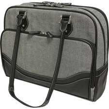"Mobile Edge Carrying Case (Tote) for 17"" Notebook, Ultrabook - Black, White"