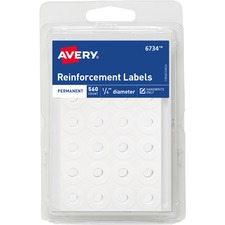 AVE 06734 Avery Permanent Reinforcement Labels AVE06734