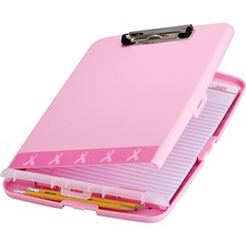 OIC 08925 Officemate Pink Slim Clipboard Storage Box OIC08925