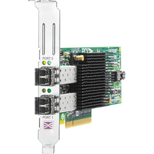 HPE 82E 8Gb 2-port PCIe Fibre Channel Host Bus Adapter - 2 x LC - PCI Express 2.0 x4 - 8 Gbit/s - 2 x Total Fibre Channel Port(s) - 2 x LC Port(s) - SFP+ - Plug-in Card