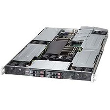 Supermicro 1027GR-TQFT 1U Xeon 2XLGA2011 C602 DDR3 4SATA 2.5in 5PCIE 4GPU 2X10GBE X540 1800W