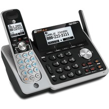 AT&T TL88102 DECT 6.0 1.90 GHz Cordless Phone - Cordless - 2 x Phone Line - Speakerphone - Answering Machine - Backlight