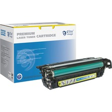 Elite Image Toner Cartridge - Remanufactured for HP (CE262A) - Yellow - Laser - 11000 Page - 1 Each