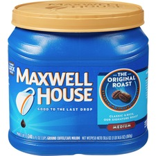 Maxwell House Original Ground Coffee Ground - Regular, Regular - Arabica - Medium - 30.6 oz
