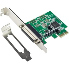 SYBA Multimedia 1-port Parallel (Printer, LPT1, DB25) PCI-e Controller Card with DOS Driver