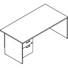 LAS31NEF3072SM - Lacasse Left Single Pedestal Desk