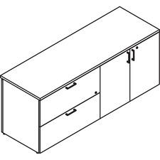 LAS31NELF2072BM - Lacasse Lateral File/Bookcase Credenza