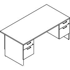 LAS31NFF3072FM - Lacasse Double Pedestal Desk