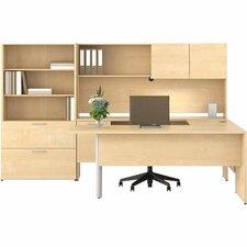 LAS31NFR2042IFM - Lacasse Concept 300 Pedestal Desk with Executive Return