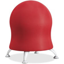 "Safco Zenergy Ball Chair - Polyester Seat - Four-legged Base - Crimson Red - Polyvinyl Chloride (PVC), Polypropylene, Steel - 23"" Height"