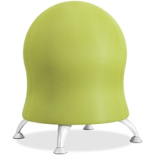 "Safco Zenergy Ball Chair - Polyester Seat - Four-legged Base - Grass Green - Polyvinyl Chloride (PVC), Polypropylene, Steel - 23"" Height"