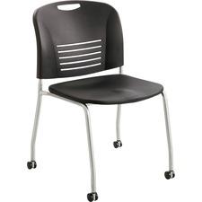 SAF 4291BL Safco Vy Rolling Stack Chair SAF4291BL