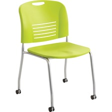 SAF 4291GS Safco Vy Straight Leg Stack Chairs w/ Casters SAF4291GS