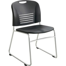 SAF 4292BL Safco Vy Sled Base Stack Chair SAF4292BL