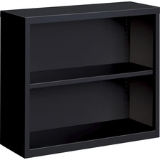 LLR 41282 Lorell Fortress Series Black Steel Bookcase LLR41282