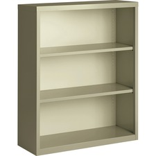 LLR 41284 Lorell Fortress Series Putty Steel Bookcase LLR41284