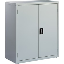 LLR 41303 Lorell Fortress Steel Light Gray Storage Cabinet LLR41303