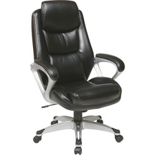 LLR52120 - Lorell Executive Leather high-back Chair