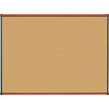 LLR 60641 Lorell Cherry Finish Natural Cork Board LLR60641