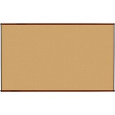 LLR60643 - Lorell Mahogany Finish Natural Cork Boards