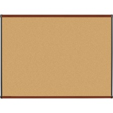 LLR60644 - Lorell Mahogany Finish Natural Cork Boards