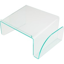 LLR 80661 Lorell Acrylic Transparent Green Edge Phone Stand LLR80661