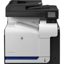 HP LaserJet Pro 500 M570DN Laser Multifunction Printer - Color - Copier/Fax/Printer/Scanner - 31 ppm Mono/31 ppm Color Print - 600 x 600 dpi Print - Automatic Duplex Print - Upto 75000 Pages Monthly - 350 sheets Input - Color Scanner - 1200 dpi Optical Scan - Color Fax - Gigabit Ethernet Ethernet - USB - 1 - For Plain Paper Print