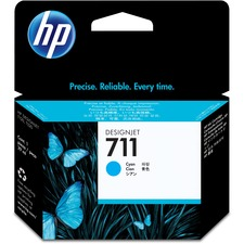 HP 711 Original Ink Cartridge - Single Pack - Inkjet - Cyan - 1 Each