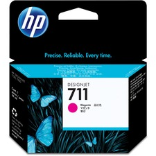 HP 711 (CZ131A) Original Ink Cartridge - Single Pack - Inkjet - Magenta - 1 Each