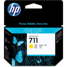 HP 711 (CZ132A) Original Ink Cartridge - Single Pack - Inkjet - Yellow - 1 Each