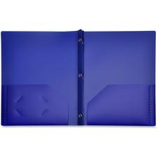 LIO92310BLBX - Lion 2-Pocket Plastic Folders with Fasteners