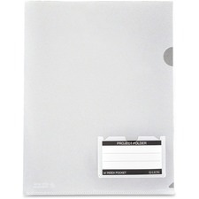 LIO49120CRBX - Lion Clear Project Folders with Index Pocket