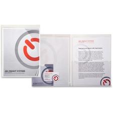 LIO52090CRBX - Lion PRESENTATION FOLD-R Clear Plastic Presentation Folders