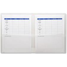 LIO91100CRBX - Lion FUN-COLOR 2-Pocket Plastic Folders, Clear