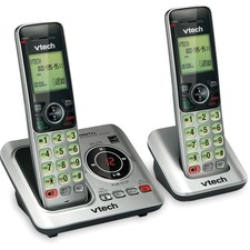 VTech CS6629-2 DECT 6.0 Expandable Cordless Phone with Answering System and Caller ID/Call Waiting, Silver with 2 Handsets