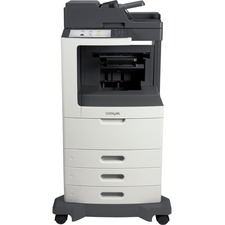 Lexmark MX810DTE Laser Multifunction Printer - Monochrome - Plain Paper Print - Desktop