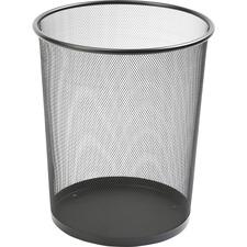 LLR 52770 Lorell Black Steel Mesh Round Waste Bin  LLR52770
