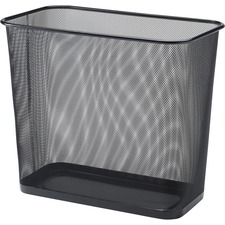 LLR52771 - Lorell Steel Mesh Rectangular Waste Bin