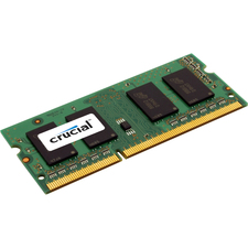 Crucial 4GB, 204-pin SODIMM, DDR3 PC3-12800 Memory Module