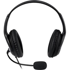 Microsoft LifeChat Headset - Stereo - USB - Wired - Over-the-head - Binaural - 6 ft Cable - Noise Cancelling, Uni-directional Microphone