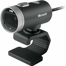 Microsoft LifeCam Cinema Webcam - 30 fps - USB 2.0 - 1 Pack(s) - 5 Megapixel Interpolated - 1280 x 720 Video - CMOS Sensor - Auto-focus - Widescreen - Microphone