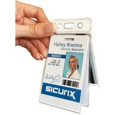 BAU67520 - SICURIX Vinyl Two-Card Badge Holder